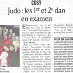 Cusy Judo : Les 1er et 2e dan en examen