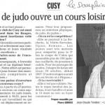 Le club de judo ouvre un cours loisir adultes - Le Dauphiné Libéré - 18 janvier 2007