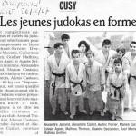 Les jeunes judokas en forme - Le Dauphiné Libéré - 26 janvier 2007