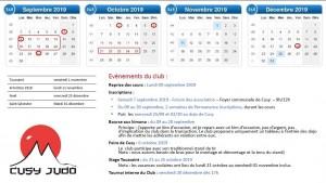 Calendrier fin 2019